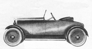 Prototype Motor Cars 1919 to 1922
